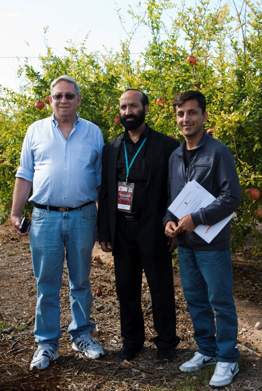 Participants from Afghanistan: Mr. G. Mohammad 'Dawari' and Mr. M. Aziz Saeedi, with Dr. D. Rymon of Pomeg-Tech