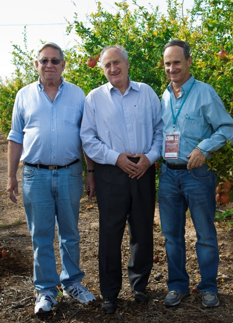 Mr. O. Schwartzer of Argentina with Dr. D. Rymon and Mr. A. Levin of Pomeg-Tech